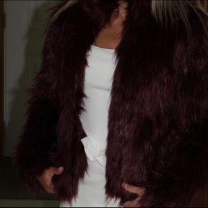 Xs fashion nova fur jacket